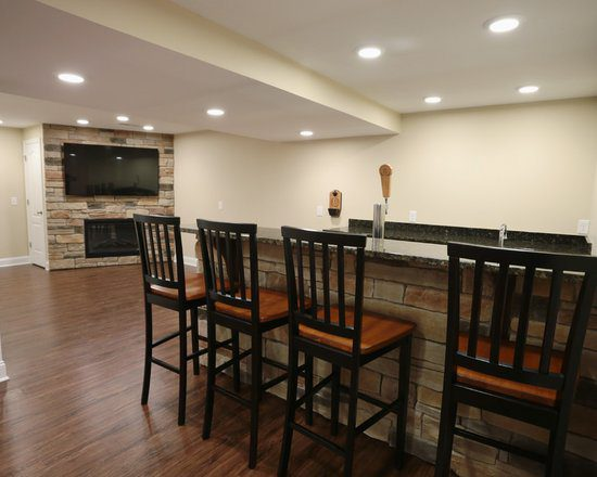 Basement Remodel Contemporary